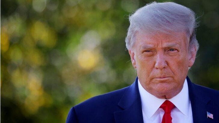 Koronavirüs testi pozitif çıkan ABD Başkanı Donald Trump hastaneye kaldırılıyor